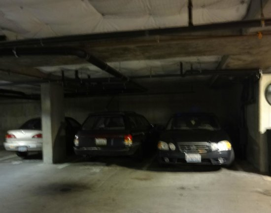 Mediterranean Inn: The parking garage