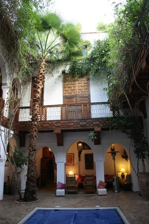 Riad lyla Marrakech: Courtyard