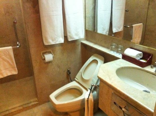 Merdeka Palace Hotel: the bathroom
