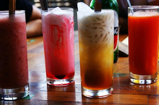 Jati 3 Bungalows: Some drinks
