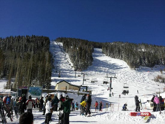 Taos Ski Valley, Νέο Μεξικό: Bluebird day 3/11/13