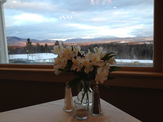 Whitefield, NH: The view at dinner