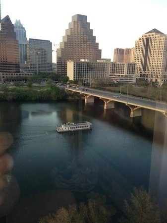 Hyatt Regency Austin: Looking north across Town Lake to downtown