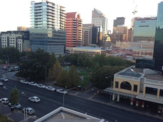 Crowne Plaza Adelaide: View from our balcony.