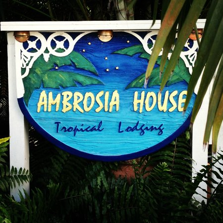 Ambrosia Key West Tropical Lodging: SIgnage