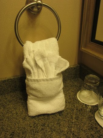 Hotel Julien Dubuque: They fold towels in knots - frustrating