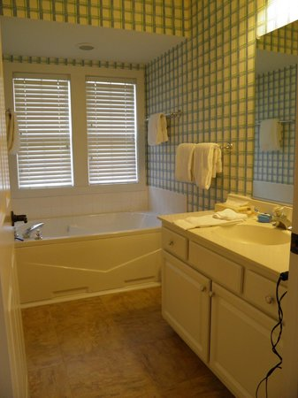 The Estates at Kings Creek Plantation: bathroom was really nice- shower and toliet to the left of the pic