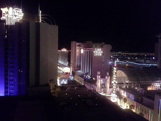 Plaza Hotel & Casino: View from our room, night.