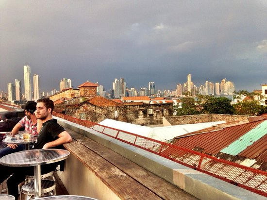 Tantalo Hotel / Kitchen / Roofbar: View from the Rooftop Bar (looking at downtown Panama City)