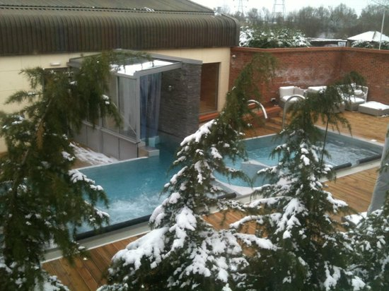 Room Looked Out On The Pool At The Spa Picture Of Wyboston Lakes Hotel Wyboston Tripadvisor