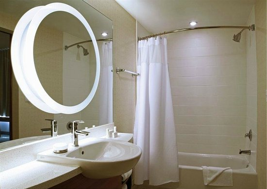 Modern Vanity Mirror And Shower Tub Combo Picture Of