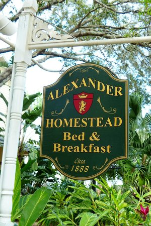 Alexander Homestead: Front Sign
