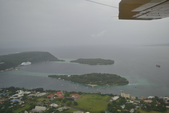 Iririki Island Resort: From the air