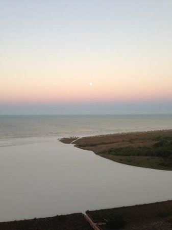 South Seas Towers Condominiums: morning moon over gulf