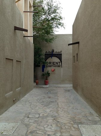 Orient Guest House: View of entrance to guest house from side street