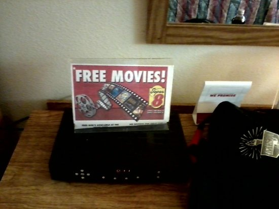 Super 8 Costa Mesa / Newport Beach Area: If you want to watch DVDs they have players and discs at front desk.