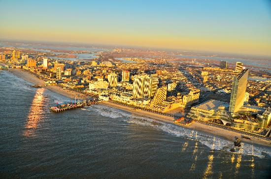 Aerial view of Atlantic City, November 2012