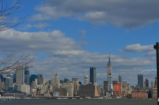 Weehawken, NJ: Photo of the Manhattan skyline taken from the hotel parking lot.