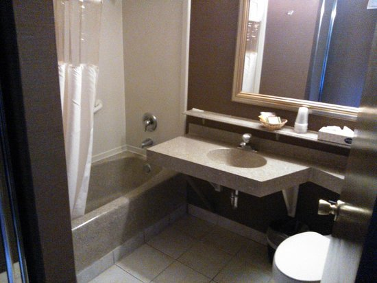 Fremont Hotel and Casino: Decent bathroom size