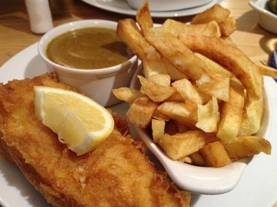 Fish and chips from the balancing eel st ives picture of for Fish and chips sauce