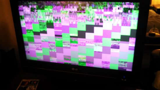 Holiday Inn Washington - Capitol: This is what all basic channels (NBC, ABC,CBS,etc..) looked like on the TV in the room