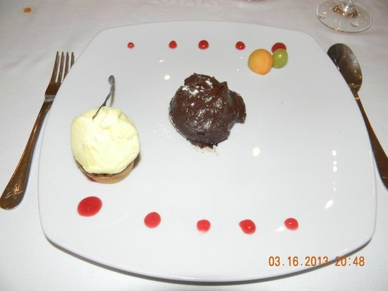 Iberostar Grand Hotel Bavaro: Desert at the Surf and Turf Restaurant