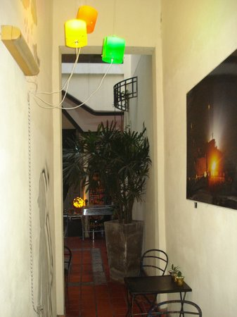 ChillHouse: Passageway between kitchen area and reception area