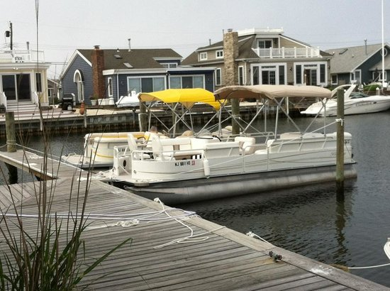 Lavallette, NJ: Pontoon Boats available at Aqua Rentz at Ocean Beach Marina