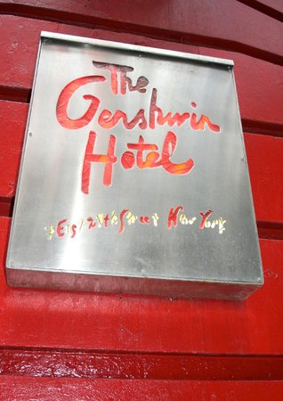 The Gershwin Hotel: View from the front of the hotel...