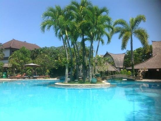 Hotel Vila Lumbung : the pool area