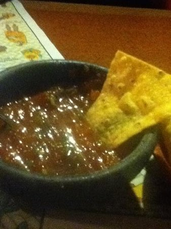 Rialto, CA: chips and salsa for starters