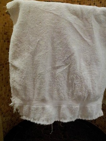 City Inn (Beijing Happy Valley): Frayed towel