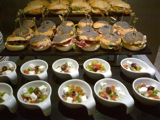 Hilton Milan: Some of the catering for our meeting