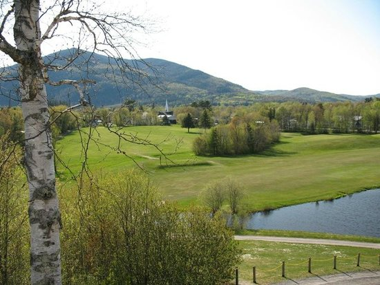 Colebrook, NH: Western view overlooking golf course.