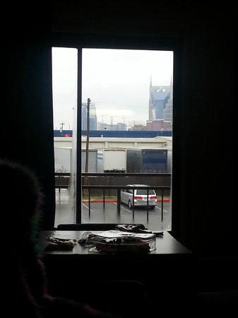 Knights Inn Nashville: The view of Nashville from our window.