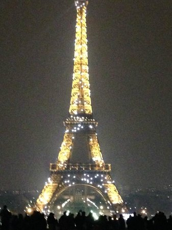 Hotel Holiday Inn Paris Gare Montparnasse: Eiffel Tower at night.
