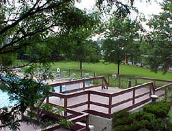 South Lansing Days Inn: Courtyard