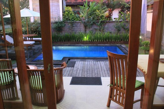Villa Agung Khalia: Private pool as seen from the room
