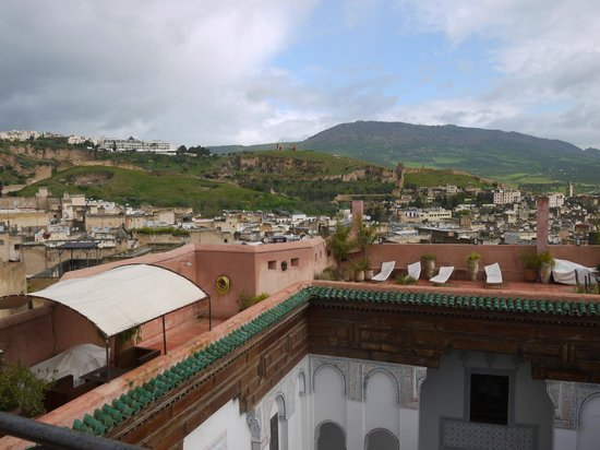 Riad Laaroussa: View from the Terrace
