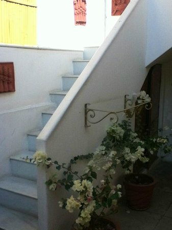 All Seasons Homestay Jaipur: Stairs leading up to one of the rooms