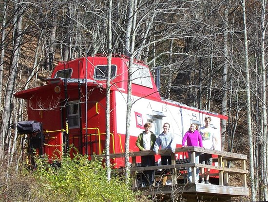 Durbin, WV: Campsite for the Castaway Caboose