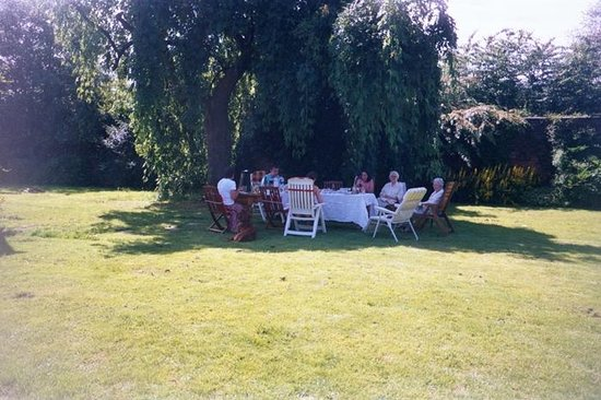 Alloa, UK: Afternoon tea in the garden