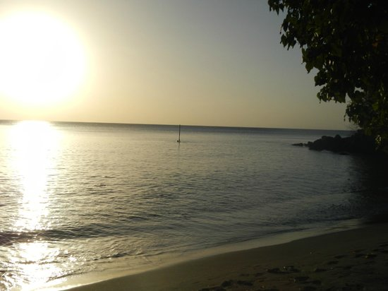 Saint John Parish, Grenada: Black Sand Beach at Mango Bay