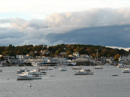 Beautiful view from our balcony, Brown's Wharf Inn, Boothbay Harbor, ME