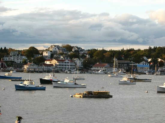 Spectacular view from our balcony, Brown&#39;s Wharf Inn, Boothbay Harbor, ME