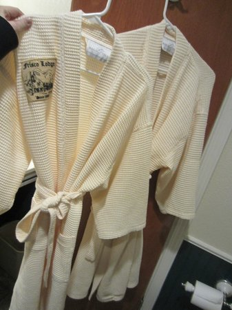 Frisco Lodge: Robes in the bathroom!