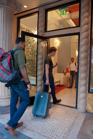 Stay on Main Hotel and Hostel: Entrance