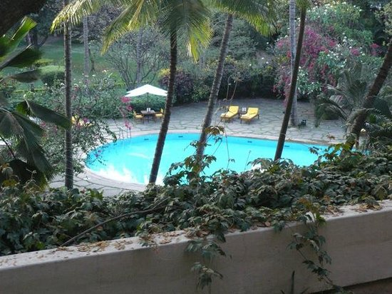 View Of Swimming Pool From Our Room Picture Of The Oberoi Bangalore Bengaluru Bangalore