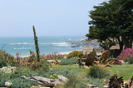 Cambria Shores Inn: View when walking out our front door!