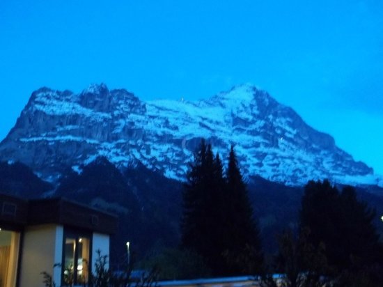 Romantik Hotel Schweizerhof : View from our hotel room at dusk